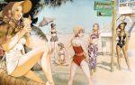 bikini elvy_hadhiyat hotaru_kim kisaragi_quon nanamori_sayoko rahxephon shitow_haruka shitow_megumi swimsuits yamada_akihiro