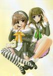 arisugawa_yui lovely_idol nekoya_miu nishimata_aoi seifuku thigh-highs