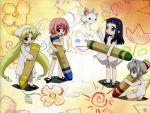 art chiriri hororo kururu mary_janes oboro oboro_(bottle_fairy) sarara shoes