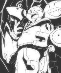 electrode gym_leader laughing lightning lightning_bolt lightning_flash magneton manectric monochrome pokemon pokemon_(game) pokemon_rse tessen_(pokemon) uka_(artist)