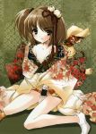 brown_hair cleavage ito_noizi japanese_clothes kimono short_hair short_kimono
