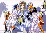ah_my_goddess belldandy dress high_heels skuld tagme urd