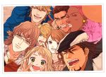 2girls 6+boys antonio_lopez barnaby_brooks_jr blonde_hair brown_hair erika_(sakana0529) huang_baoling ivan_karelin kaburagi_t_kotetsu karina_lyle keith_goodman multiple_boys multiple_girls nathan_seymour photo_(object) pink_hair tiger_&_bunny