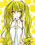 alternate_hair_color blonde_hair hatsune_miku vocaloid yellow yellow_eyes