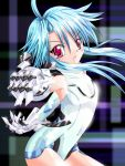 blue_eyes bodysuit choujigen_game_neptune compile_heart elbow_gloves female flat_chest gloves gust_(neptune_series) idea_factory kunican long_hair nippon_ichi red_eyes sega solo white_heart wii
