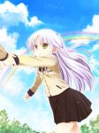cloud dragging long_hair mina_m pulling purple_hair rainbow school_uniform sky tenshi_(angel_beats!) yellow_eyes