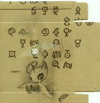 cardboard celebi kameko no_humans photo pokemon pokemon_(creature) pokemon_(game) pokemon_gsc unown unownglyphics