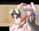 animal_ears beretta_92 bunny_ears gun handgun inaba_tewi kotowari_(newtype_kenkyuujo) pistol reisen_udongein_inaba touhou wallpaper weapon