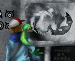 pokemon pokemon_(game) pokemon_black_and_white reshiram snivy touya_(pokemon) unown zekrom
