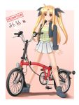 blonde_hair brompton casual fate_testarossa folding_bicycle mahou_shoujo_lyrical_nanoha petag2