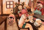 1boy 2girls akane_(pokemon) bad_id cannibalism chopsticks cosplay eating flower food hat ice_cream mario mario_(cosplay) mario_(series) mikan_(pokemon) miltank multiple_girls ninomiyaninomiya pokemon pokemon_(creature) pokemon_(game) pokemon_gsc rice rice_bowl super_mario_bros. twintails