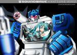 aqua_hair crossover detached_sleeves hatsune_miku nail_polish robot soundwave transformers vocaloid