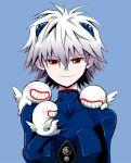 androgynous male nagisa_kaworu neon_genesis_evangelion plugsuit red_eyes white_hair