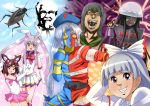 absurdres animal_ears bishoujo_senshi_sailor_moon chargeman_ken! colonel_sanders cosplay death_note everyone ex-keine fujiwara_no_mokou hakaider hakaider_(cosplay) highres houraisan_kaguya imperishable_night inaba_tewi jinzo_ningen_kikaider jinzou_ningen_kikaider kamishirasawa_keine kfc kikaider kikaider_(series) magical_girl multiple_girls parody parsley_(artist) parsley_(kn-08) reisen_udongein_inaba sailor_chibi_moon sailor_chibi_moon_(cosplay) super_sailor_moon super_sailor_moon_(cosplay) touhou wriggle_nightbug wriggle_nightbug_(bug) yagokoro_eirin