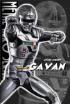 grey highres metal_hero pose scramble_dash solo uchuu_keiji_gavan zoom_layer