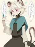 confession fakepucco grey_hair mouse_ears mouse_tail nazrin pov short_hair solo tail touhou translated