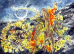dusclops duskull fiery_hair fire moon nature night no._017 no_humans pokemon rapidash running sableye shedinja shuppet