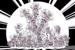 bulbasaur castform croagunk ditto eevee jigglypuff lickilicky luvdisc monochrome paul_robertson pixel_art pokemon pokemon_(creature) purple raichu remoraid shellder skitty slowbro slowking whismur