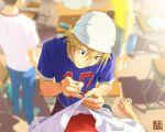 bandana da_kata face foreshortening hamada_yoshirou hands male ookiku_furikabutte pov sewing