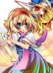 alice_margatroid bad_id beni0012 blonde_hair blue_eyes capelet doll hairband highres long_hair nail_polish shanghai shanghai_doll short_hair touhou yellow_eyes