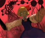 ascot crazy_eyes creepy danmaku darkness lips outstretched_arms pov realistic red rumia solo spread_arms touhou yo_(pixiv)