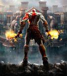 bald bodypaint chain god_of_war kratos official_art sword weapon