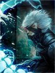 cyborg glowing glowing_eyes matsumoto_mio metal_gear_solid metal_gear_solid:_rising raiden solo white_hair