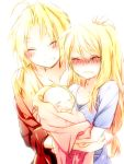blonde_hair blush couple edward_elric fullmetal_alchemist good_end happy long_hair riichu smile spoilers tears winry_rockbell