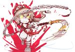 chain denkiusagi genderswap god_of_war highres kratos solo sword weapon yellow_eyes