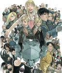 alphonse_elric armor bandages barry_the_chopper beard black_hayate blonde_hair blue_eyes bottle braid brown_hair buccaneer buccaneer_(fullmetal_alchemist) character_request closed_eyes coat darius_(fma) dark_skin den_(fullmetal_alchemist) dog dr._knox edward_elric elicia_hughes envy_(fma) everyone facial_hair father_(fma) flask fu_(fullmetal_alchemist) fullmetal_alchemist glasses gloves glowing glowing_eyes gluttony gracia_hughes greed happy heart heinkel_(fma) heymans_breda highres horns izumi_curtis jean_havoc jerso kain_fuery king_bradley lan_fan lieutenant_yoki ling_yao lips long_hair looking_at_viewer lust maes_hughes mask may_chang military military_uniform mrs._bradley mukuo multicolored_hair multiple_persona mustache nina_tucker no_mouth olivier_mira_armstrong open_mouth panda paninya pinako pink_hair pride ran_fan red_eyes riza_hawkeye rose_tomas roy_mustang scar scarf short_hair sig_curtis sloth smile solf_j_kimblee spoilers tears trisha_elric truth_(fullmetal_alchemist) uniform van_hohenheim vato_falman weapon white_hair wink winry_rockbell wrath xiao-mei yellow_eyes zampano zolf_kimblee