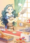 :q blue_eyes boya bread cooking earmuffs egg food igloo kitchen long_hair original solo toast toaster tongue