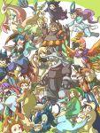 aggron cattleya_(pokemon) chikorita cosplay cyndaquil denzi_(pokemon) dragonite eevee everyone gen_(pokemon) gengar gline gold_(pokemon) hayato_(pokemon) ho-oh itsuki_(pokemon) kotone_(pokemon) kurotsugu_(pokemon) leafeon lopunny lucario luxray matsuba_(pokemon) mikuri_(pokemon) milotic minaki_(pokemon) natu nejiki_(pokemon) ooba_(pokemon) ookido_green pikachu pokemon red_(pokemon) rhyperior shirona_(pokemon) silver_(pokemon) staraptor suicune totodile tsuwabuki_daigo wataru_(pokemon) xatu