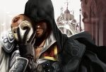 alternate_costume armor_of_altair assassin's_creed_ii assassin's_creed_ii beard cape enrica ezio_auditore_da_firenze facial_hair gloves hood jewelry male mask necklace smile solo