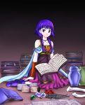 ball blush bone book boots bracelet cape dress fire_emblem fire_emblem:_seima_no_kouseki fire_emblem_sacred_stones flower jar jewelry lute_(fire_emblem) pink_eyes purple_hair scroll twintails