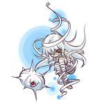 1girl bandages hitec long_hair moemon mummy personification pokemon pokemon_(creature) pokemon_(game) pokemon_rse red_eyes silcoon very_long_hair white_hair