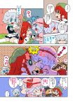 batman batman_(cosplay) batman_(series) comic cosplay dc_comics flandre_scarlet hong_meiling izayoi_sakuya karaagetarou kiss remilia_scarlet touhou translated translation_request yuri