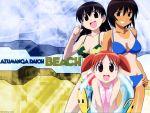 azumanga_daioh kagura mihama_chiyo swimsuit takino_tomo