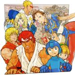 :q ^_^ arcade armor beard bent_over blonde_hair blue_eyes bow bracelet brown_eyes brown_hair bun_cover capcom captain_commando china_dress chinese_clothes chun-li circlet clenched_teeth closed_eyes crossover cup double_bun drink earrings facial_hair food forgotten_worlds green_eyes hair_bow headband helmet hibiki_dan highres jewelry joystick ken_masters kinu_nishimura laughing lipstick looking_back lost_worlds makaimura mega_man muscle nishimura_kinu official_art open_mouth pantyhose pink_hair playing_games poison poison_(final_fight) ponytail popsicle red_hair robot rockman rockman_(character) roll ryu ryuu_(street_fighter) sagat short_hair sir_arthur sir_arthur_(makaimura) sleeveless smile spiked_bracelet spikes spread_legs star street_fighter street_fighter_i sunglasses surprised sylphie tan tongue torn_clothes veins video_game