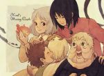 calcifer dog ghibli grey_hair heen howl howl_no_ugoku_shiro itoko markl sophie witch_of_the_waste