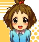brown_eyes brown_hair high_ponytail highres hirasawa_yui k-on! kindergarten short_hair tokonatu young