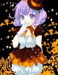 gloves harumi_chihiro hat heart_eyes original purple_eyes purple_hair smile solo symbol-shaped_pupils violet_eyes