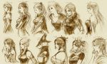6+girls aerith_gainsborough age age_comparison burmecian celes_chere character_request cocura faris_scherwiz final_fantasy final_fantasy_i final_fantasy_ii final_fantasy_iii final_fantasy_iv final_fantasy_ix final_fantasy_v final_fantasy_vi final_fantasy_vii final_fantasy_viii final_fantasy_x final_fantasy_xii final_fantasy_xiii fran freija_crescent freya_crescent highres leila lulu monochrome multiple_girls oerba_yun_fang pirate princess quistis_trepe reila rydia sara_altney sketch smile translation_request viera