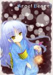 angel_beats! blue_hair japanese_clothes long_hair nora-toro sparkler tenshi_(angel_beats!) yellow_eyes yukata