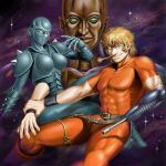cobra crystal_boy dorasu gun lady_armaroid prosthesis psycho_cannon psychogun robot severed_arm space space_adventure_cobra star weapon