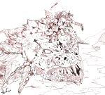absurdres crossover drawfag epic god_of_war highres in_the_face kratos monster pegasus_seiya saint_seiya