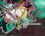 ahoge alphonse_elric amber_eyes angry armor bishie blonde_hair braid brown_eyes edward_elric electricity full_metal_alchemist fullmetal_alchemist fullmetal_alchemist_brotherhood gloves golden_eyes long_hair male pair ponytail robe wallpaper yellow_eyes