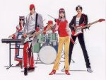 bass_guitar drum fatal_fury guitar instrument king_of_fighters kusanagi_kyo kusanagi_kyou nakoruru official_art samurai_spirits shinkiro terry_bogard yagami_iori