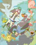 :q aloe_(pokemon) alomomola araragi_(pokemon) bad_id baseball_cap bel_(pokemon) bell_(pokemon) cheren_(pokemon) deerling dent_(pokemon) hat highres makomo_(pokemon) musharna n_(pokemon) nayutta oshawott poke_ball pokemon pokemon_(creature) pokemon_(game) pokemon_black_and_white pokemon_bw reshiram reuniclus rotational_symmetry shorts snivy surcoat team_plasma tepig tongue touko_(pokemon) touya_(pokemon) upside-down wink woobat zekrom