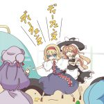 alice_margatroid from_behind hat kawashiro_nitori kirisame_marisa monomi multiple_girls patchouli_knowledge subterranean_animism touhou translated translation_request trembling witch_hat