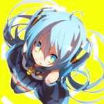 aka_tonbo_(lililil) aqua_eyes aqua_hair grin hatsune_miku long_hair long_sleeves necktie smile twintails vocaloid